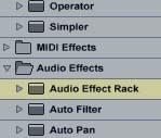 Live Effect Rack Browser