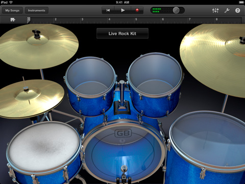 ipad-garageband drums